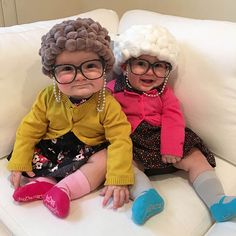 044b0e18c1f Old Lady Pom Pom Hair Hats - Cute Kids Halloween Costumes! Over 25 of the  Best DIY Halloween Ideas to inspire you on Trick or Treat night!