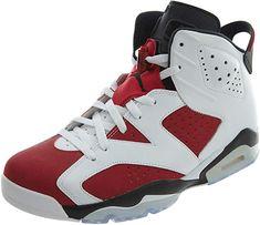 competitive price f994e 3f742 Nike Air Jordan 6 Retro, Chaussures de Sport Homme, Blanc Rouge Noir
