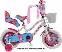 Meisjesfiets Coranna Princess wit 16 Inch | bestel gemakkelijk online op Fietsen-verkoop.nl