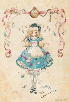 So pretty! Alice in Wonderland illustration
