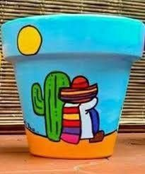 Mexican terracotta pot - All About Flower Pot Art, Mosaic Flower Pots, Mosaic Pots, Cactus Flower, Pebble Mosaic, Painted Clay Pots, Painted Flower Pots, Mexican Paintings, Mosaic Garden Art