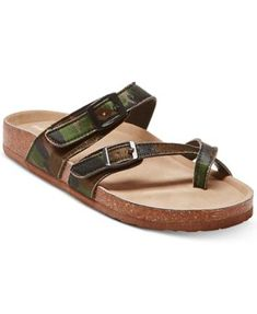 Madden Girl Bryce Footbed Sandals - Camoflage 8.5M