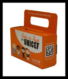 Trick or Treat for Unicef- I liked doing this. he tradition of 'Trick-or-Treat for UNICEF' began in 1950 in the United States, when Philadelphia schoolchildren first went door-to-door at Halloween collecting money in decorated milk cartons to help their global peers #DecorateIfYouDareContest