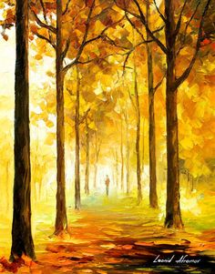 Original Recreation Oil Painting on Canvas This is the best possible quality of recreation made by Leonid Afremov in person. Title: Yellow