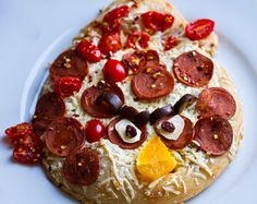 Let kids put their own toppings on a pizza, this Angry Birds one is a great example.