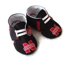 Baby Shoes, Nebraska Huskers $20 www.2fabs.com Newborn size up to 18 month. Handmade