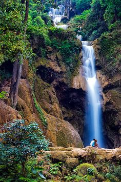 Kuang Si Falls, Laos, near Luang Prabang  One of the most beautiful falls I have been to