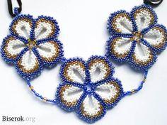 Beaded flower free pattern