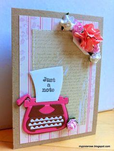 MyPixieRose: Feminint kort med skrivemaskine