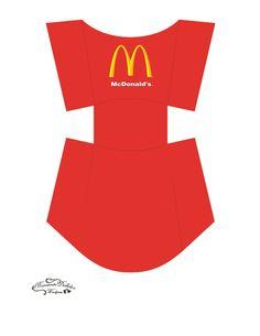 print at on white card stock. Diy Gift Box, Diy Box, Mcdonalds Birthday Party, Happy Meal Box, Box Template Printable, Free Printable, Mcdonalds Fries, Burger Box, Sandwich Box