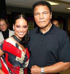 Alicia Keys and Muhammad Ali RIP
