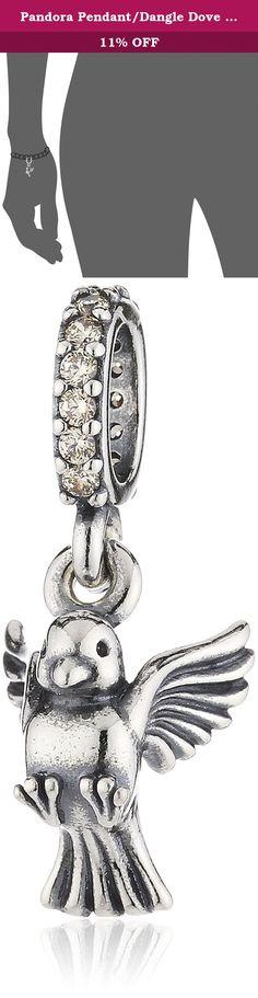 Pandora Pendant/Dangle Dove Of Peace Golden CZ 791394CCZ. Pandora Dove Of Peace Pendant Charm In 925 Sterling Silver, 791394CCZ.