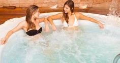 Soaking in a hot tub or spa can provide many health benefits, including stress relief and improved sleep. A chlorine or bromine-free hot tub is even better. Antalya, Stress Relief, Health Benefits, Glamour, Vacation, Hot Tubs, Outdoor Decor, Spas, Home