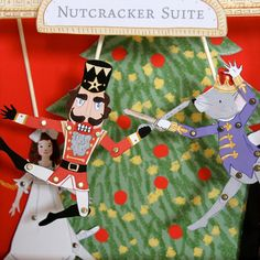 Spectacular printable Nutcracker paper dolls + puppet theater. Awesome last minute gift or holiday craft.
