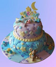 Baby quilt cake