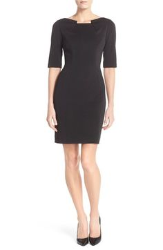 Tahari Scuba Sheath Dress (Regular & Petite) available at #Nordstrom