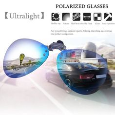6ca7a35183 mtqsun - Polarized Clip UV400 Sunglasses On Sunglasses lens Fishing Night  Driving UV400 GREEN BLACK YELLOW - Walmart.com