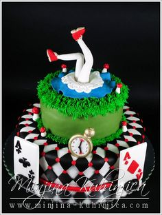 Alice in Wonderland cake- 21st birthday? Maybe?! Yes (: