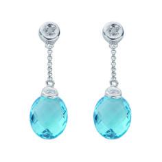 blue shining earings