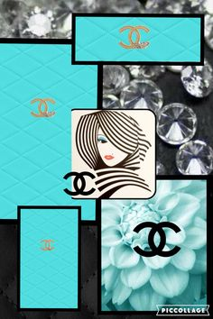 Chanel blue collage by @staceylangner
