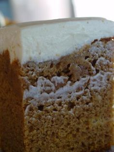 pumpkin cake with honey frosting