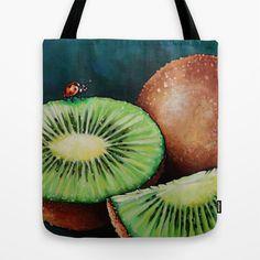 Kiwi Tote Bag by Na Liu Cherry - $22.00