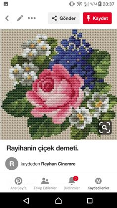 Rose Bouquet, Cross Stitching, Macrame, Roses, Cushions, Flowers, Pattern, Crafts, Embroidery Ideas