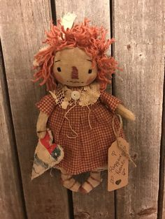 Brown Hair Doll Brown Hair Rag Doll Independent Audrey The Soft Baby Doll Handmade