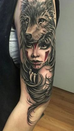 Here we shared a lot of wolf tattoos. Colored best 2019 wolf tattoos, you can choose one of them for yourself. Wolf Sleeve, Wolf Tattoo Sleeve, Arm Tattoo, Tattoo Wolf, Tiny Tattoo, Tattoo Girls, Girls With Sleeve Tattoos, Tattoos For Guys, Ladies Tattoos