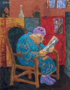 BBC Your Paintings - Somebody Reading by William Hallé Wandsworth Museum Date painted: 1991 Reading Art, Woman Reading, Book People, Art Uk, Book Images, I Love Books, Your Paintings, Portrait Art, Female Art