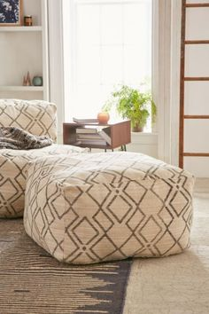 Bobo Patterned Ottoman - Urban Outfitters