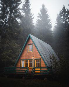 Cozy Cabin in Thuringa forest, Germany : CozyPlaces A Frame Cabin, A Frame House, Tiny House Cabin, Cabin Homes, Forest Cabin, Cozy Cabin, Cabins In The Woods, Architecture, My Dream Home