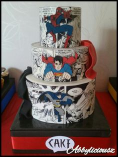 Superhero cake! Marvel Cake, Superman Cakes, Superhero Cake, Superhero Birthday Party, Cake Birthday, Avenger Cake, Character Cakes, Cake Images, Novelty Cakes