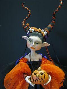 Halloween Faerie (detail) by Lorell Lehman