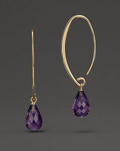 Amethyst Drop Earrings in 14 Kt. Yellow Gold, 6.4 ct. t.w.   Bloomingdale's