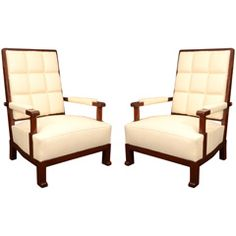 A Pair of Armchairs in the manner of Paul Dupre-Lafon
