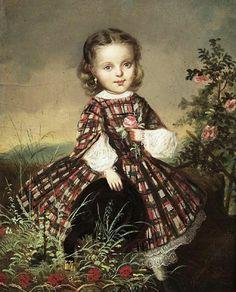 In the Swan's Shadow: Unidentified portrait of a little girl, 1861