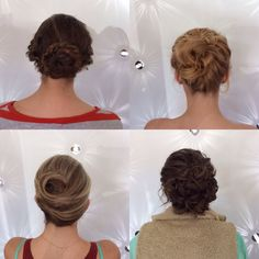 Pulled back and pretty. Wedding updos for a spring wedding from Jón Alan Salon in Bellevue