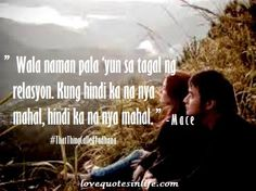 5 Hugot Lines from the Movie That Thing Called Tadhana Filipino Quotes, Tagalog Love Quotes, Tagalog Quotes, Wattpad Quotes, Bts Quotes, Words Quotes, Movie Love Quotes, Hugot Quotes, Hugot Lines