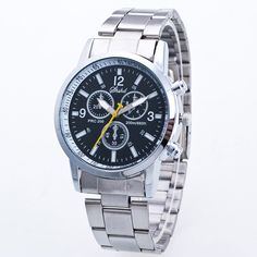 Analog Dial Plate Embellished Steel Watch #>=#>=#>=#>=#> Click on the pin to check out discount price, color, size, shipping, etc. Save and like it!