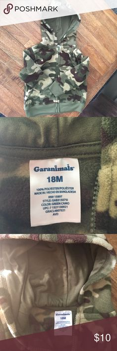 Garaminals 18 M camouflage fleece hoodie New without tags/ never worn. Really cozy! garanimals Shirts & Tops Sweatshirts & Hoodies