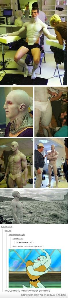 The Making Of Handsome Squidward - Damn! LOL