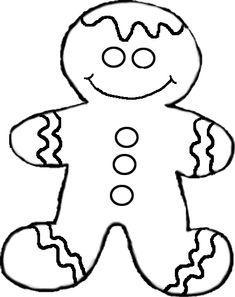 ginger bread men images for coloring | Gingerbread Man