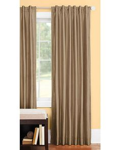 ***discontinued*** Better Homes and Gardens Thermal Faux-Silk Back-Tab Window Curtain Panel, Brown Window Panels, Window Curtains, Curtain Panels, New Living Room, Living Room Decor, Faux Silk Curtains, Beautiful Curtains, Better Homes And Gardens, Home Bedroom
