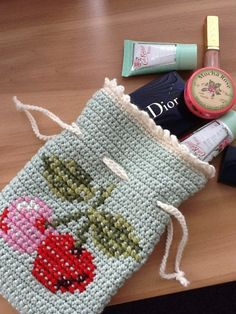 Cherry bag #Crochet #CrochetBag #Cherry