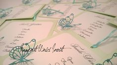 Cards tableau con farfalle intagliate - tableau with butterflies - verde e tiffany Tiffany, Butterflies, Valentino, Place Cards, Place Card Holders, Wedding Ideas, Butterfly, Wedding Ceremony Ideas
