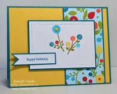 "Happy ""Summer Blossoms"" card by Jennifer Timko"