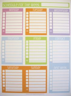INSTANT DOWNLOAD Weekly Docket - BRIGHTS. $3.00, via Clean Mama