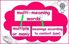 This lesson helps students to USE words for all they're worth! Plan your lesson in English / Language Arts or Listening and Speaking with helpful tips from Kelli Smith Literacy Activities, Literacy Centers, Homographs, Multiple Meaning Words, Writing Workshop, Word Work, Lesson Plans, Helpful Hints, Meant To Be