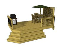 Cool and easy deck plan design. Under 200 feet and you can download the free deck plan today.